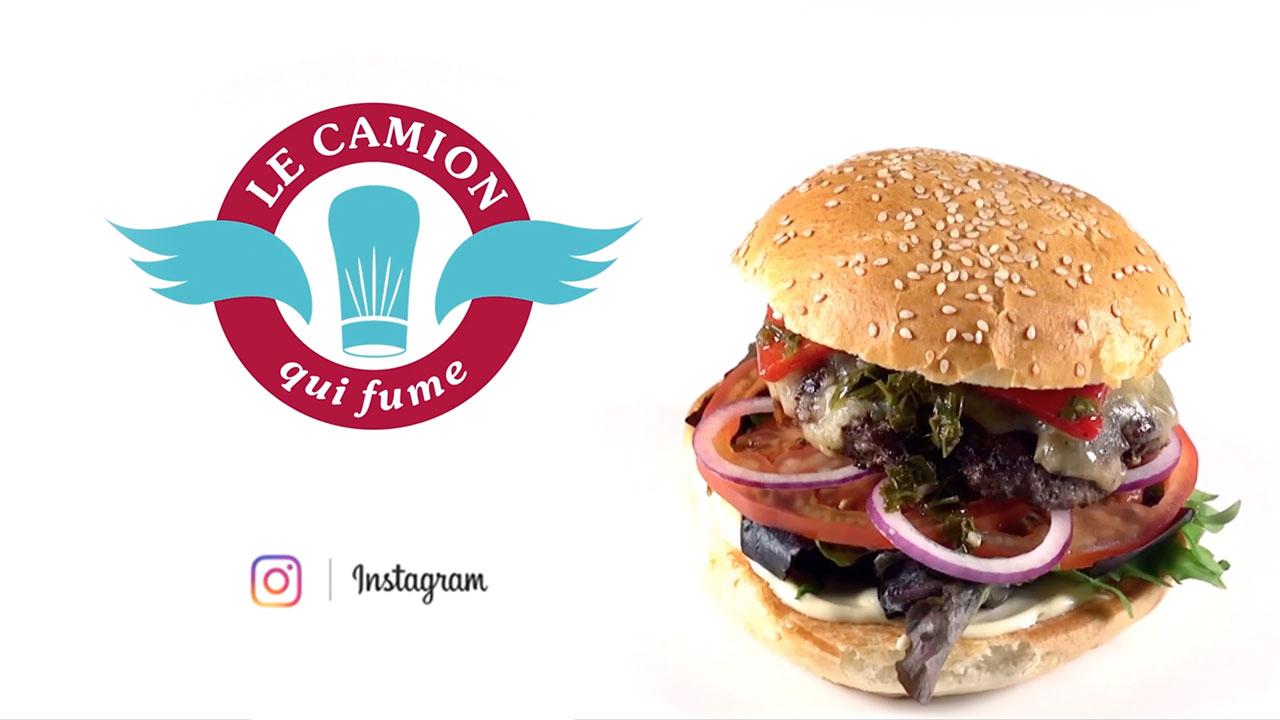Instagram Vidéo Burger Camion qui fume Burger du mois