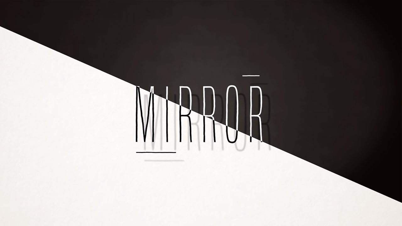 Clip Black and White Mirror The Kings Parade Motion design geometric
